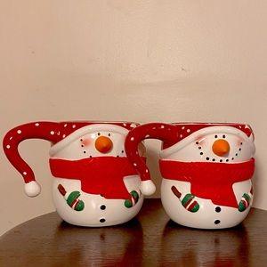 Matching Snowman Mugs